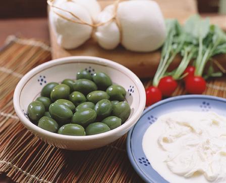 olive verdi in calce